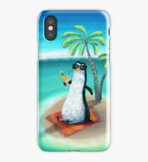 tropical dream in the summer of a penguin iPhone Case/Skin