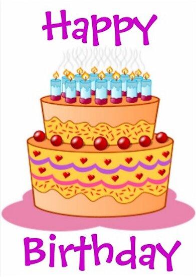 Happy Birthday Big Cake By BlackStarGirl