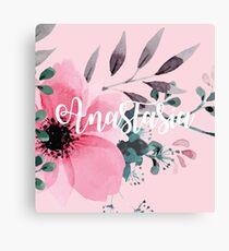 Floral Personalised Canvas Print