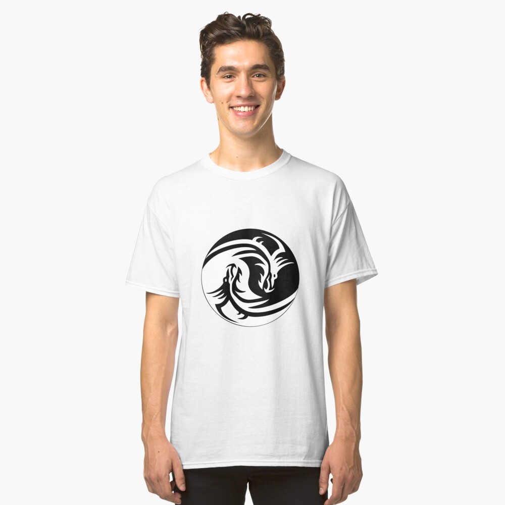 The Yin Yang Dragon Classic T-Shirt Front