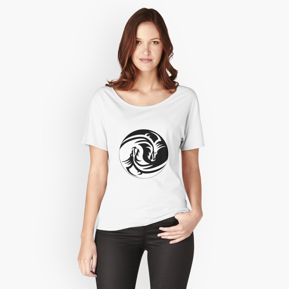 The Yin Yang Dragon Women's Relaxed Fit T-Shirt Front