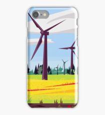 Biking in the Rapeseed field iPhone Case/Skin