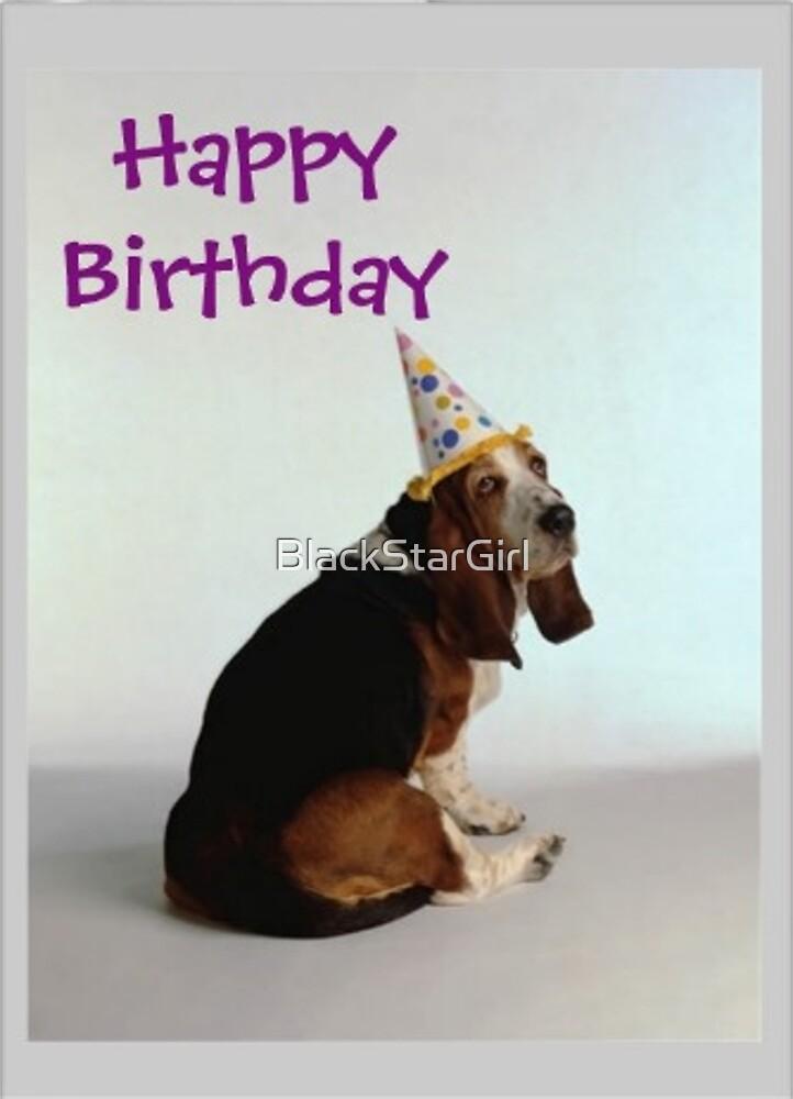 Basset Birthday Dog by BlackStarGirl