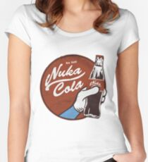 Fallout nuka cola logo, Women's Fitted Scoop T-Shirt