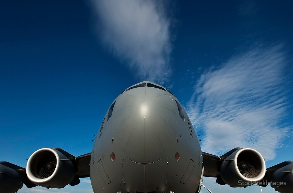 Low angle view of a C-17 Globemaster III. by StocktrekImages