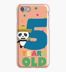 Five Years fifth Birthday Party Panda Rbknv iPhone Case/Skin