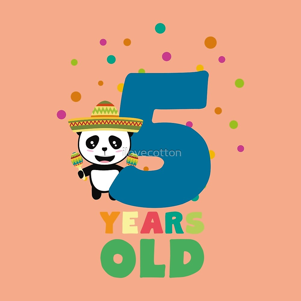 Five Years fifth Birthday Party Panda Rbknv by ilovecotton