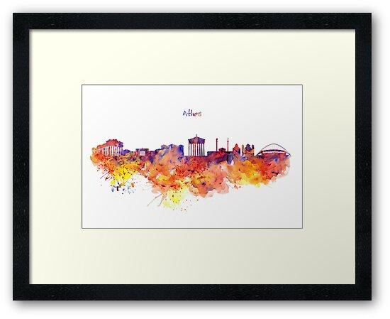 Athens Skyline by Marian  Voicu