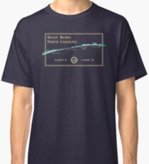 Bogue Banks, NC map by The Sandpiper Shirt Co. Classic T-Shirt
