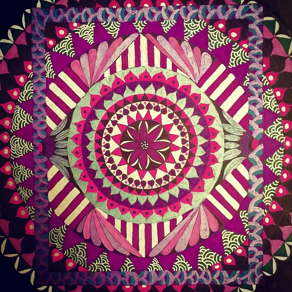 Pink And Purple Mandala by JannyD