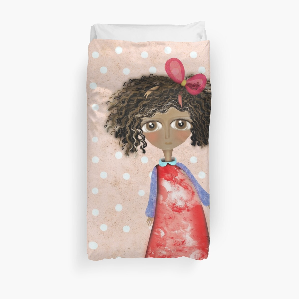 Africa Doll Wonderland Grungy Pink Old Styled Polka Dots by rupydetequila