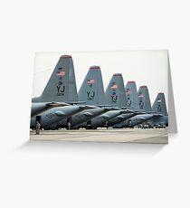 U.S. Air Force C-130 Hercules aircraft on the flight line at Yokota Air Base. Greeting Card