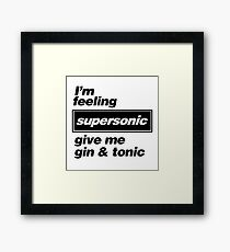 Oasis - Supersonic Lyrics design Framed Print