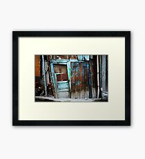 Falling Door Framed Print