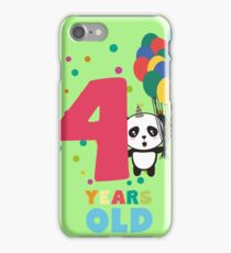 Four Years fourth Birthday Party Panda Rbcrf iPhone Case/Skin
