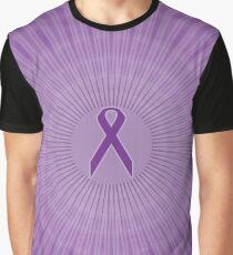 Purple Ribbon Circles: Fibromyalgia, Alzheimer's, Lupus Graphic T-Shirt