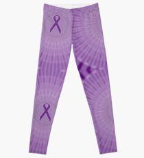 Purple Ribbon Circles: Fibromyalgia, Alzheimer's, Lupus Leggings