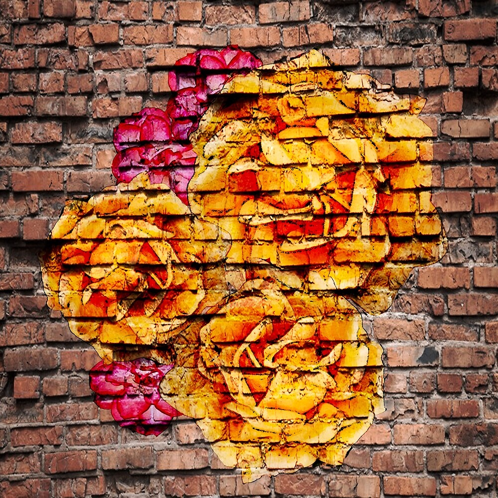 Roses on Brick by faymic