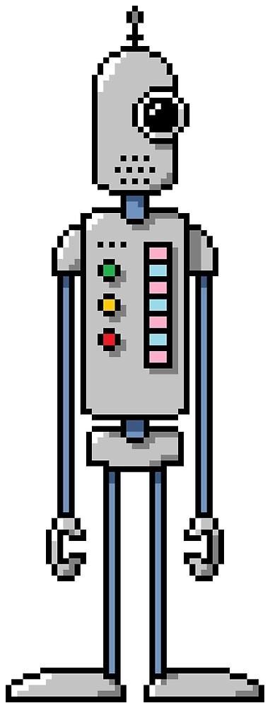 Pixel Robot 044 by Vampireslug