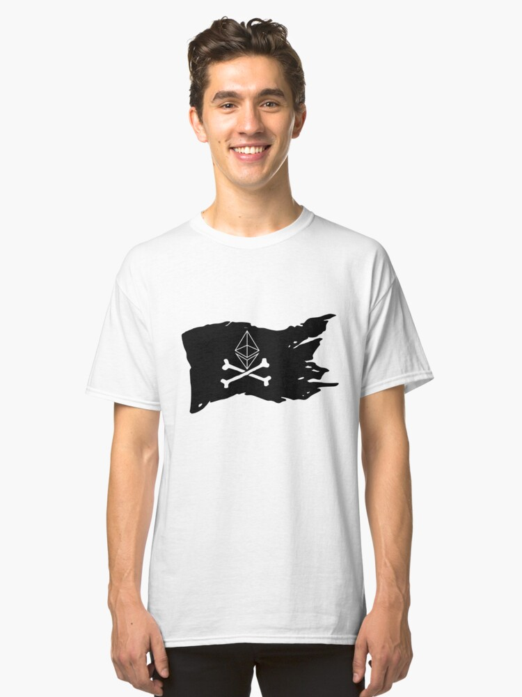 ethereum pirate flag Classic T-Shirt Front