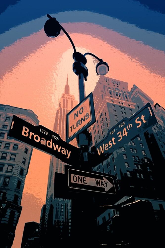 Broadway Street - New York City by Andrea Mazzocchetti