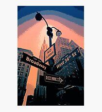 Broadway Street - New York City Photographic Print