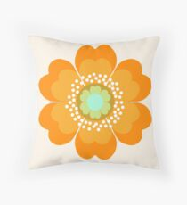 Jivin' - 70's retro throwback art floral flower motif decor hipster by Seventy Eight Throw Pillow