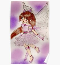Purple Fairy Poster