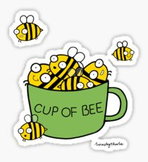 Cup of Bee Sticker