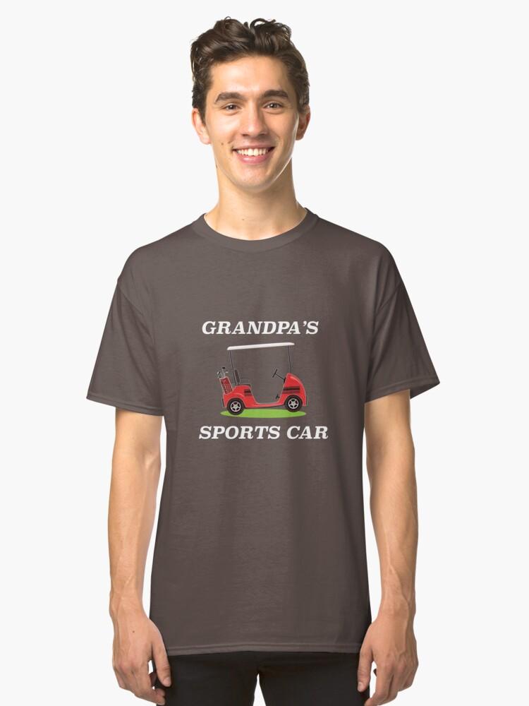 """Grandpa's Sports Car"" Golf Cart  Classic T-Shirt Front"