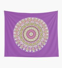 Pretty Hippy pink mandala Wall Tapestry