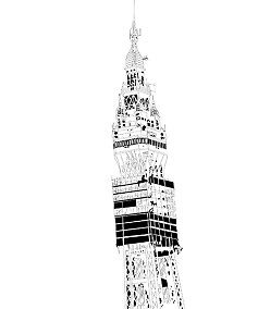 Blackpool Tower Line Drawing by DrSkeletor