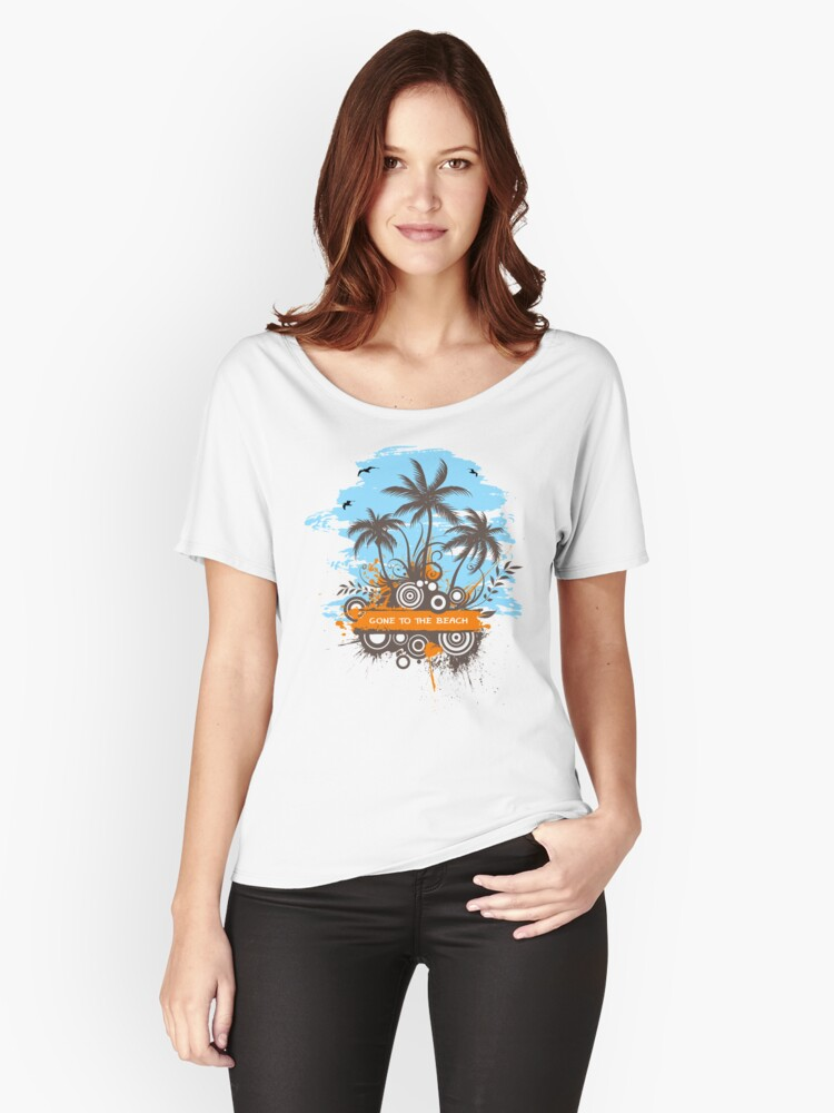 GoneToTheBeach Women's Relaxed Fit T-Shirt Front