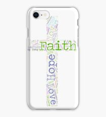 Faith Hope and Love Christian Word Cloud iPhone Case/Skin
