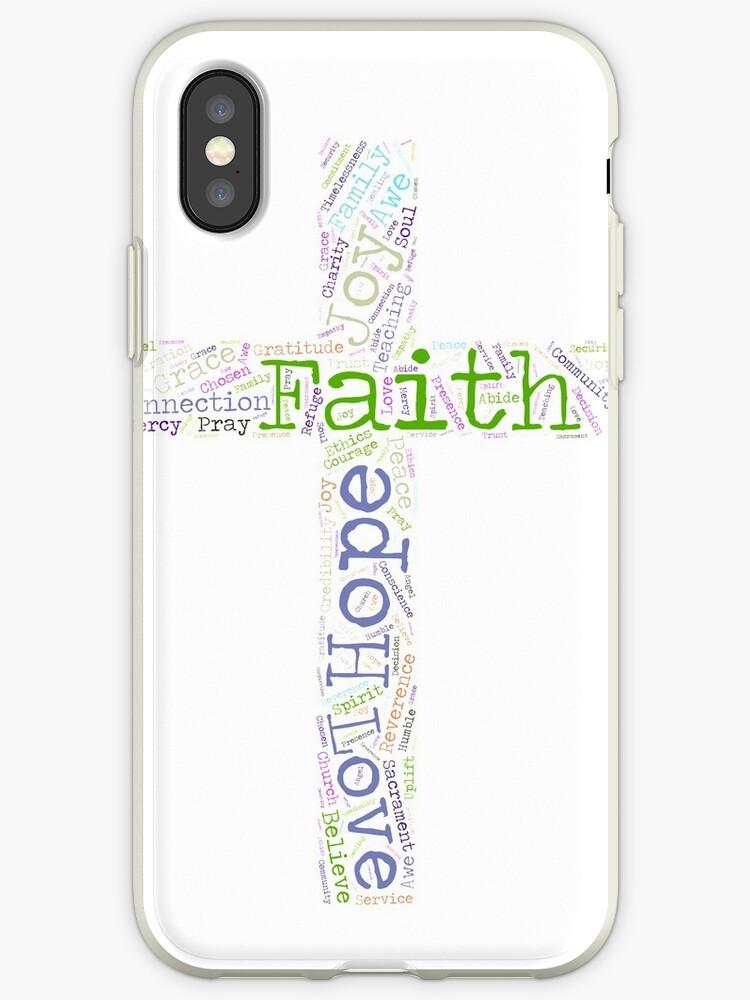 Faith Hope and Love Christian Word Cloud by breidbe