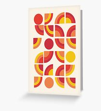Boogie - abstract retro minimalist 70s 1970s style pattern art 70's 1970's by Seventy Eight Greeting Card