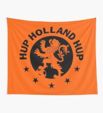 Hup Holland Orange Dutch Soccer Lion Netherlands Football Wall Tapestry
