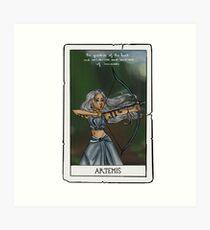 Artemis tarot card Art Print