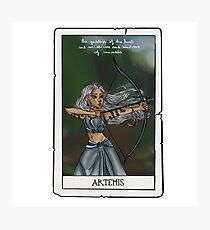 Artemis tarot card Photographic Print