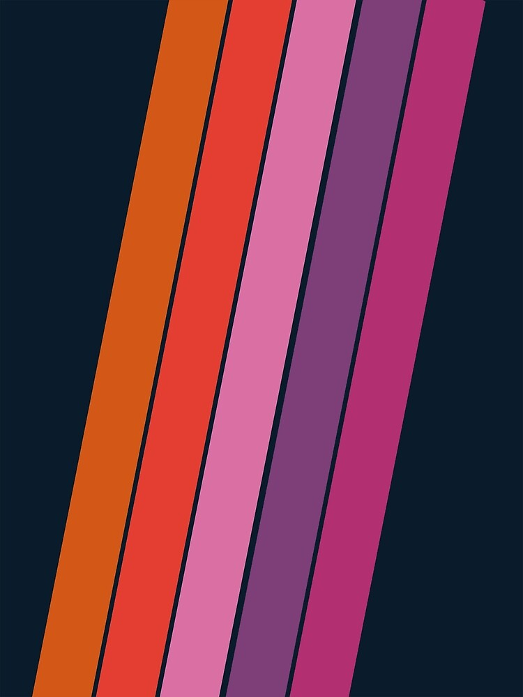 Groovy - retro throwback 70s 1970s stripes beach 70's vibes minimal art by Seventy Eight by 78designs