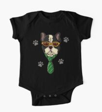 French Bulldog With Dollars Sunglasses One Piece - Short Sleeve