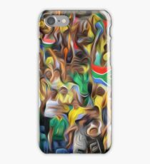 South African football fans oil paint effect,. iPhone Case/Skin