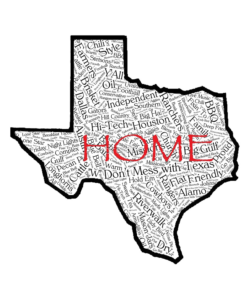 Texas Home - Words  by breidbe