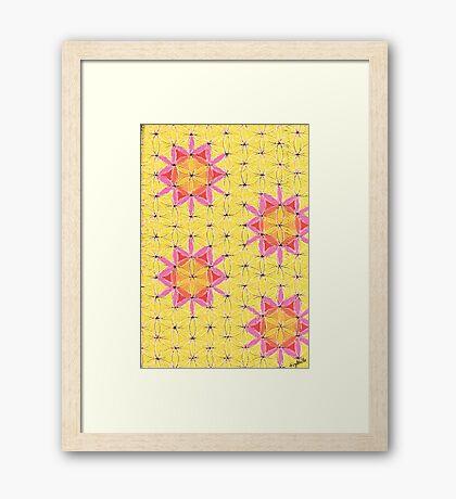 1908 - Flowers Of The Sun Gerahmtes Wandbild