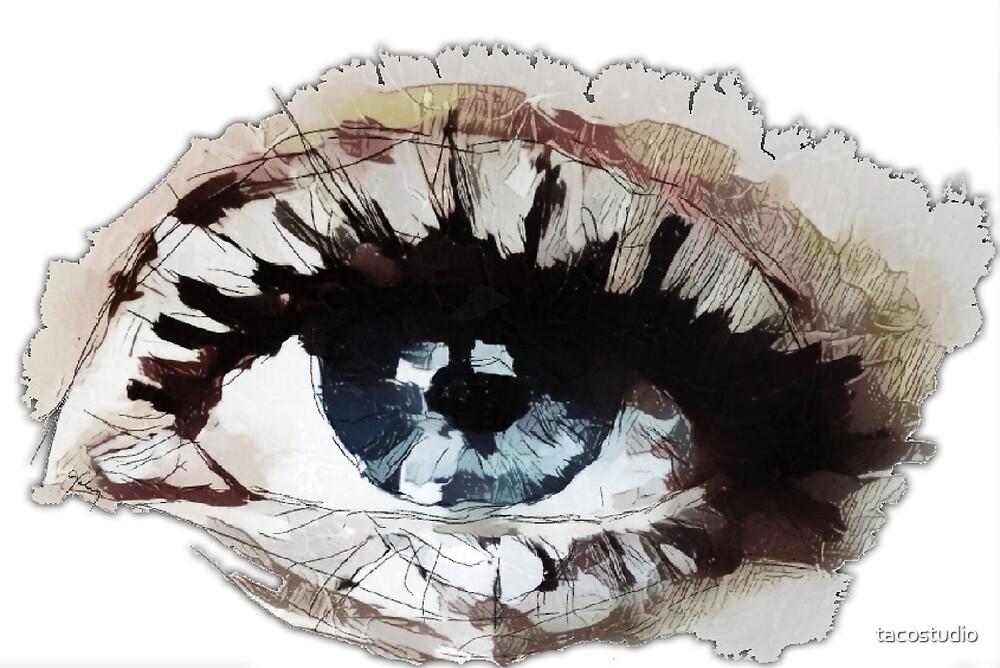 Clear blue eye by tacostudio