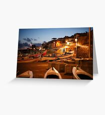 Fishing harbour Greeting Card
