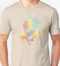 Snow Cone - Summer Typography Art Unisex T-Shirt