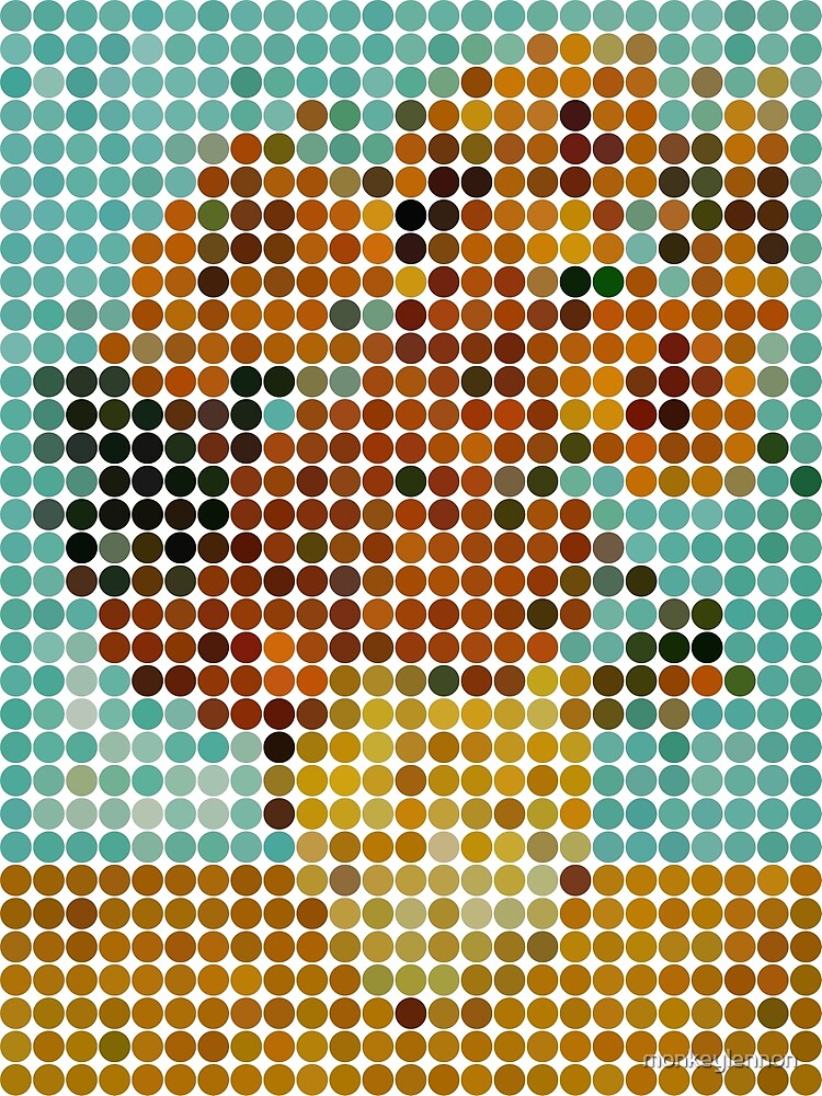 Van Gogh Sunflowers Benday Dots by monkeylennon