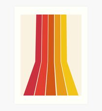 Rad - Retro-Throwback 70er Jahre 70er Jahre Streifen Strand 70er Vibes Minimal Art von Seventy Eight Kunstdruck