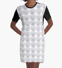 Black Clam Scallop Seashell Graphic T-Shirt Dress
